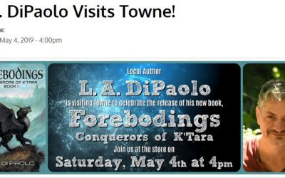 A reading and Book Signing on May 4th!