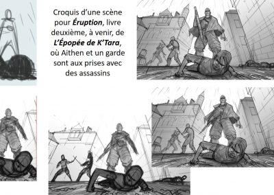 Croquis Aithen et assassins